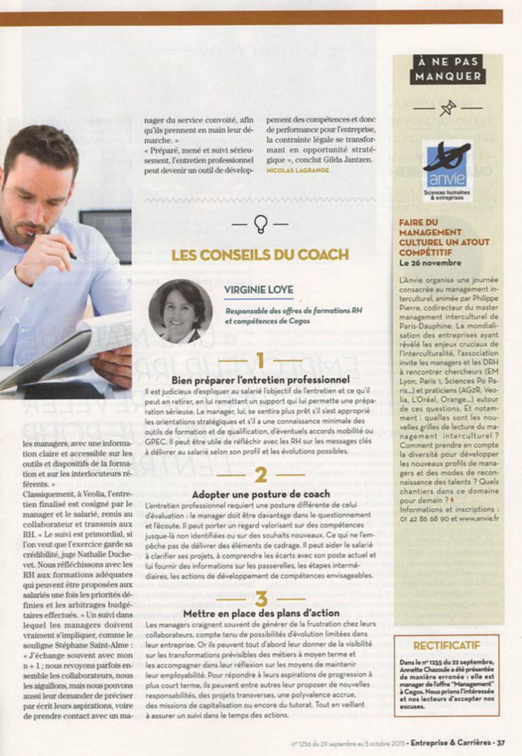 Gilda Jantzen - Article paru dans Entreprise & Carrières, octobre 2015